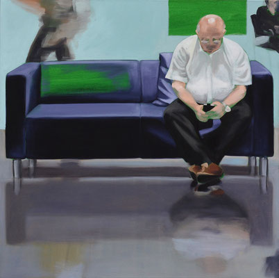 Sofa 4hoch2 #6, Öl auf Leinwand, 2014, 110 x 110 (saled)