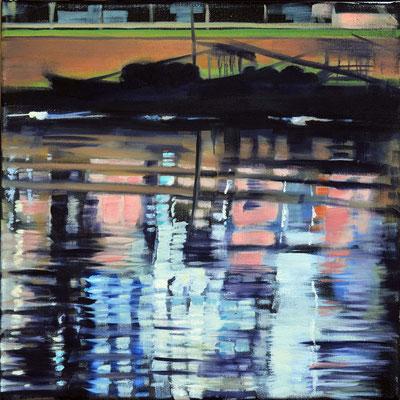 Wasserstueck6, Öl auf LW, 2017, 30 x 30 (saled)