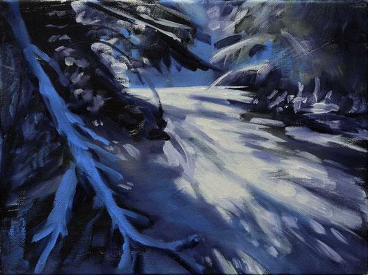 Winter, 2017, Öl auf Leinwand, 30 x 40