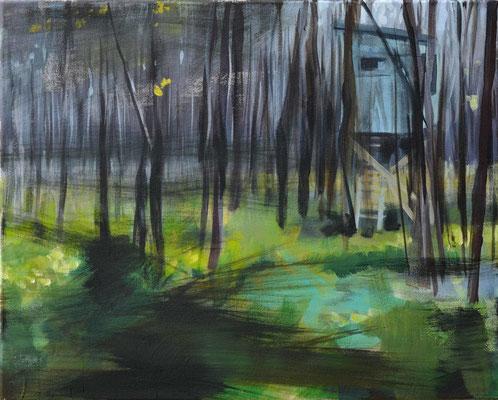 Waldstueck 8, 2016, Öl auf Leinwand, 40 x 50