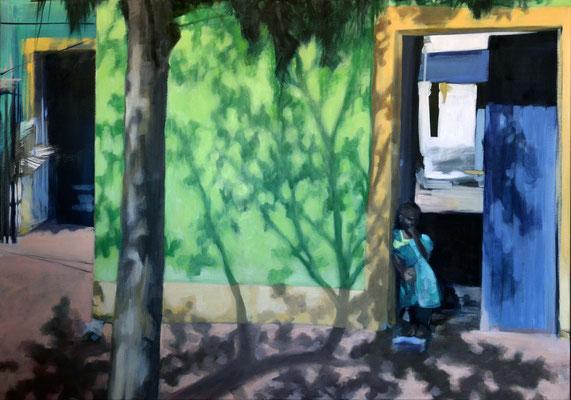 Watching Me, 2018, Öl auf LW, 70 x 110 (saled)