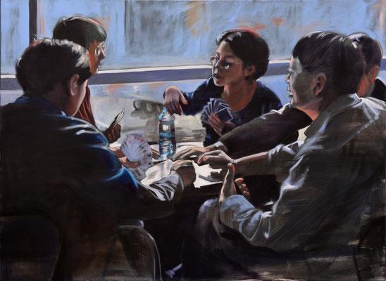 """global players"", 2015, Öl auf Leinwand, 110 x 150   (saled)"