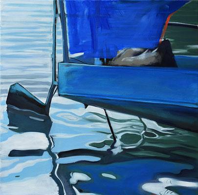 Bootsstück 9, 2014, Öl auf LW, 50 x 50    (saled)