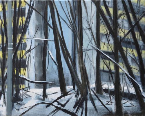 Waldstueck 2, 2016, Öl auf Leinwand, 40 x 50