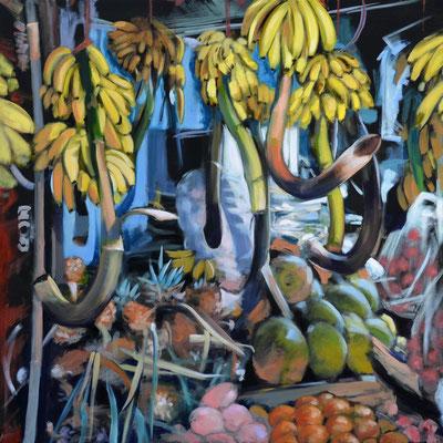 Fruits, Öl auf LW, 110 x 110