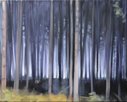 Waldstueck3, 2016, Öl auf Leinwand, 40 x 50