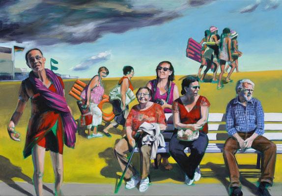 """See Me"", 2017, Öl auf Leinwand, 100 x 150"