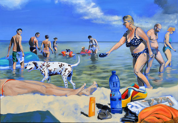 """Strand"", Acryl auf Leinwand, 2013, 110 x 160   (saled)"
