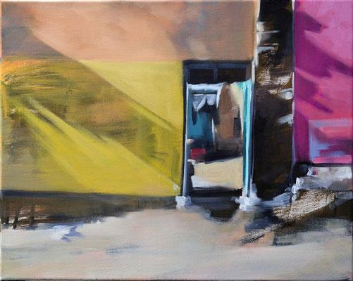 Schattenwirtschaft 3, Öl auf LW, 40 x 50 (saled)
