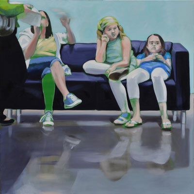 Sofa 4hoch2 #10, Öl auf Leinwand, 2014, 110 x 110