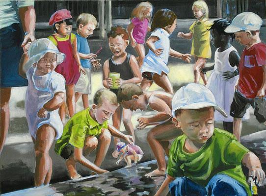 """Kinderspiele"", Öl auf Leinwand, 2012, 110 x 160   (saled)"