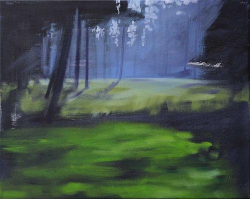 Waldstueck 10, 2017, Öl auf Leinwand, 40 x 50 (saled)