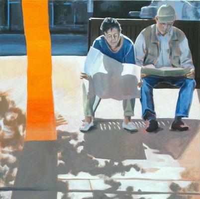 """Ü 65"", Öl auf Leinwand, 2010, 110 x 110   (saled)"