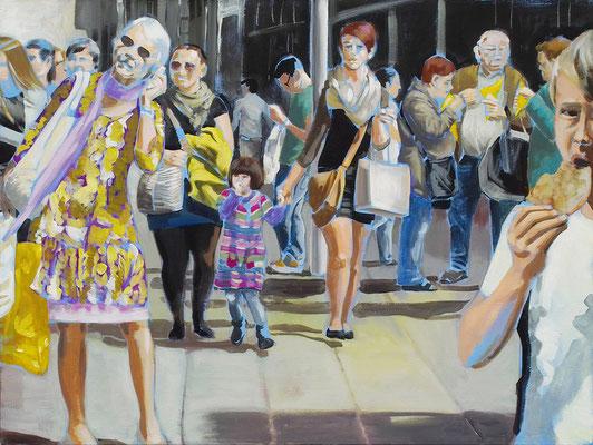 """""""shopping"""", Acryl auf Leinwand, 2012, 120 x 160"""