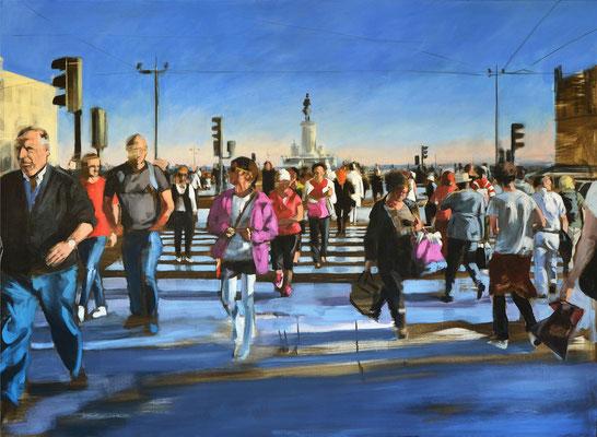 """""""Lissabon"""", 2019. Öl auf LW, 110 x 160"""