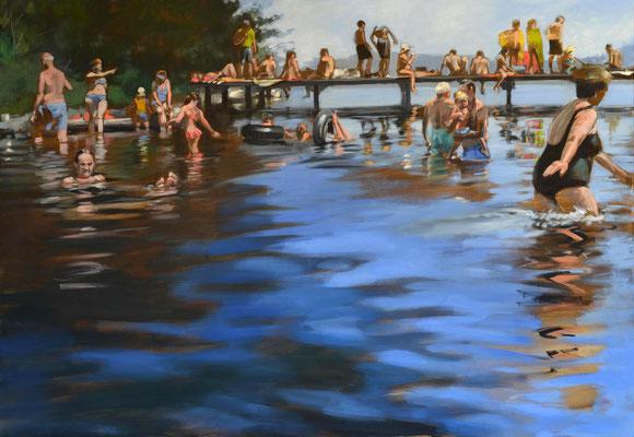 """""""Sommerfrische"""", Öl auf Leinwand, 2019, 110 x 160 (saled)"""