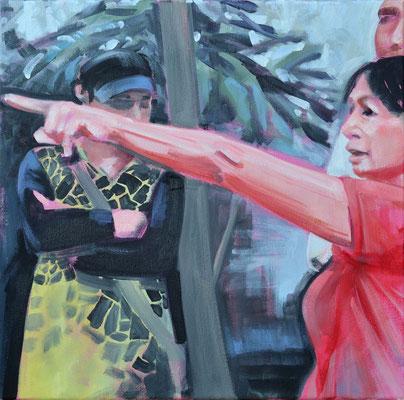 o.T., 2015, Öl auf LW, 40 x 40