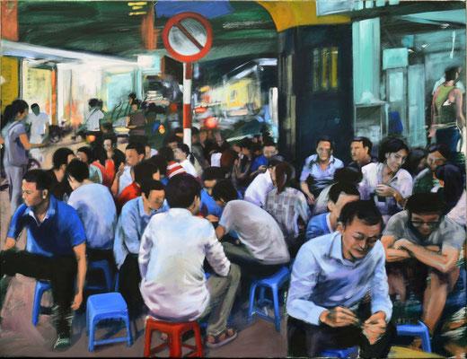 Hanoi - Dinner, 2020,  Öl auf LW, 100 x 130