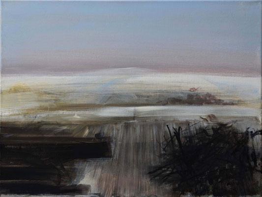 Schnee von Vorgestern, 2009, Acryl auf Leinwand, 40 x 50