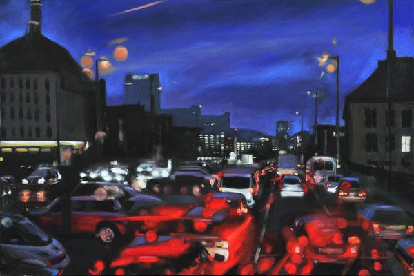 Abend Verkehr, 2015, Öl auf LW, 100 x 150