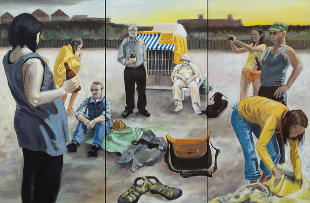 """Papa's Geburtstag"", Öl auf Leinwand, 2010, 160 x 240, 3tlg"