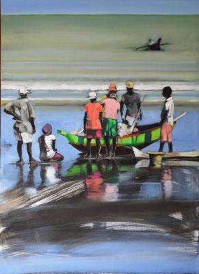 Madagaskar Fischer 2, 2018, Öl auf LW, 110 x 80