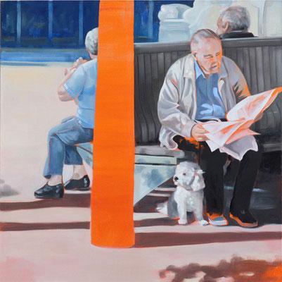 """""""kleiner Freund"""", Öl auf Leinwand, 2012, 110 x 110"""