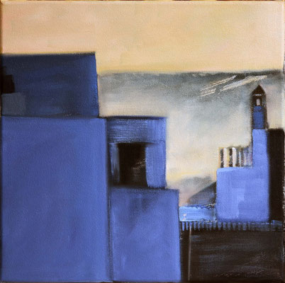 Marokko 9, 2020,  Öl auf Leinwand, 30 x 30