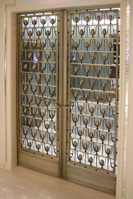 Bronze gate - Tiffany & Co Jewelry Store - New York City