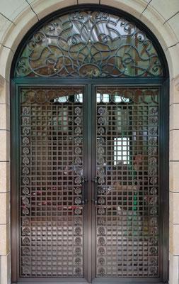 Porte en bronze - Résidence privée - Hong Kong Chine