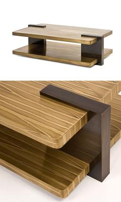 Très grande table basse à double plateau en bronze texturé - Résidence privée - New York City