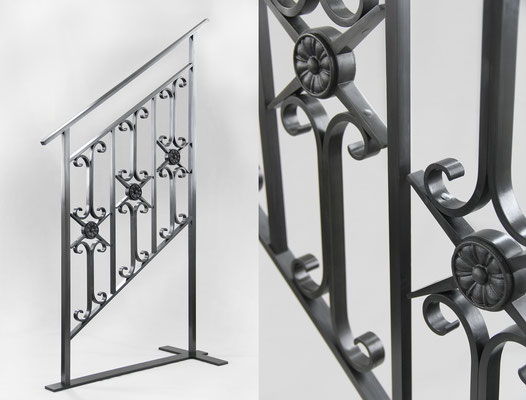 Wrought iron railing for a private residence - New York City