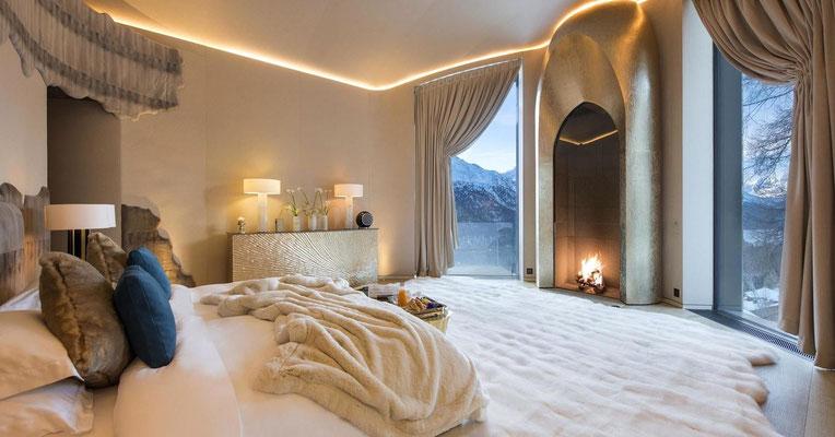 Habillage cheminée pour une résidence privée - Suisse