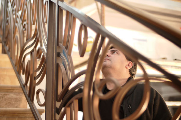 Rampe en bronze pour une résidence privée - Beverly Hills