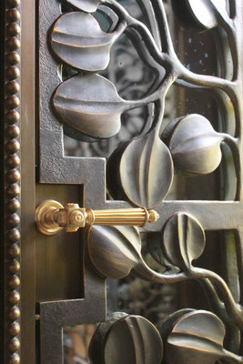 Bronze gate - Private residence - Rome