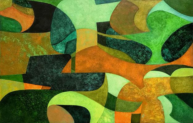 Senza titolo 17 - cm. 50x80 - Olio su carta