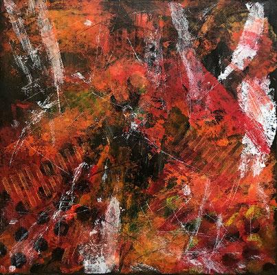 Senza titolo 13 - cm. 39x39 - Olio su carta