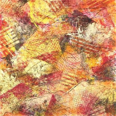 Senza titolo 7 - cm. 39x39 - Acrilico su carta