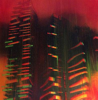 SOLARIA - cm. 31x31 - Elaborazione digitale e olio su carta