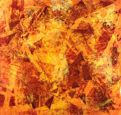 Senza titolo 4 - cm. 39x39 - Acrilico su carta