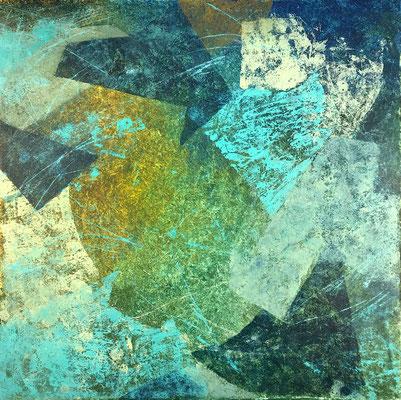 Senza titolo 5 - cm. 39x39 - Olio su carta