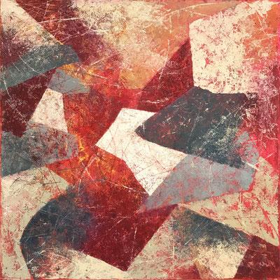 Senza titolo 6 - cm. 39x39 - Olio su carta