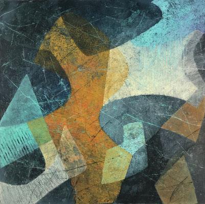 Senza titolo 12 - cm. 39x39 - Olio su carta