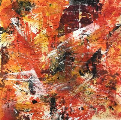 Senza titolo 1 - cm. 39x39 - Acrilico su carta