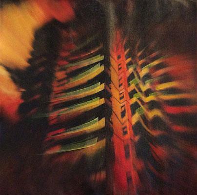 CARACCIOLO 2 - cm. 30x30 - Elaborazione digitale, olio e mixed media su carta