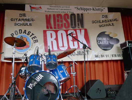 Das Bühnenbild für die KIDS ON ROCK.