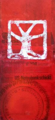 baum 2012, 50x23 cm