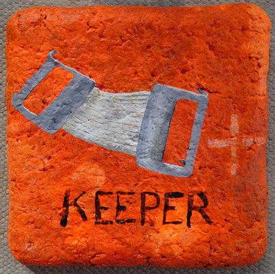 keeper, 2017, acrylic on paperclay