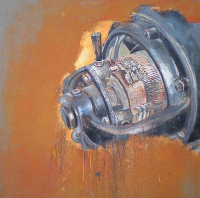 gleichstrommaschine 2010, 100x100 cm