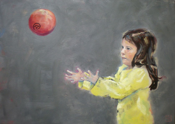 the red ball, 2014, oil on canvas